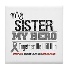 BrainCancerHero Sister Tile Coaster