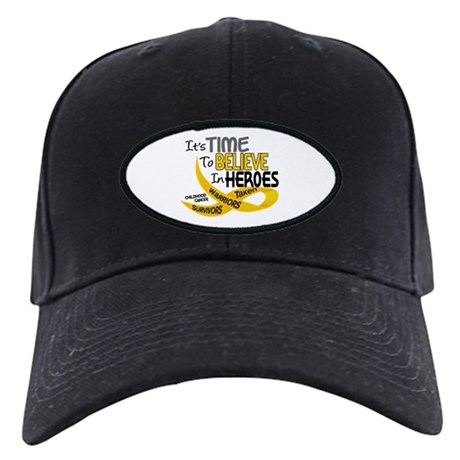 Time To Believe CHILDHOOD CANCER Black Cap