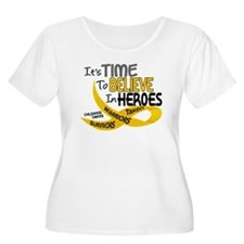 Time To Believe CHILDHOOD CANCER T-Shirt
