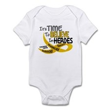 Time To Believe CHILDHOOD CANCER Infant Bodysuit