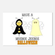 HeeBee JeeBee Halloween Postcards (Package of 8)
