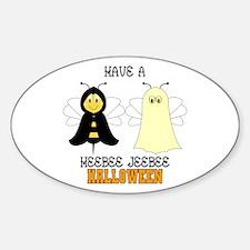 HeeBee JeeBee Halloween Oval Decal