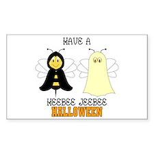HeeBee JeeBee Halloween Rectangle Decal