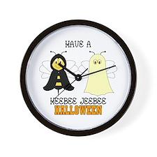 HeeBee JeeBee Halloween Wall Clock