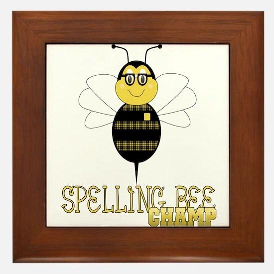 Spelling Bee Champ Framed Tile