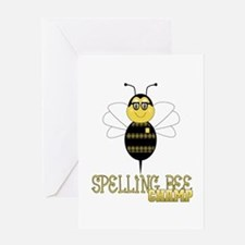 Spelling Bee Champ Greeting Card