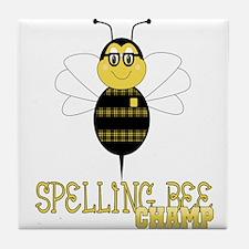 Spelling Bee Champ Tile Coaster