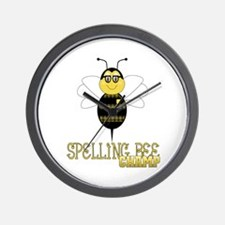 Spelling Bee Champ Wall Clock