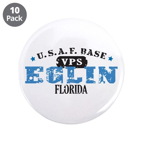 "Eglin Air Force Base 3.5"" Button (10 pack)"