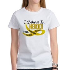 I Believe In Heroes CHILDHOOD CANCER Tee
