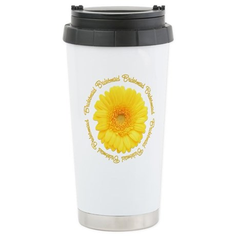 Yellow Daisy Junior Bridesmaid Stainless Steel Tra