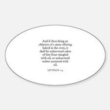 LEVITICUS 2:4 Oval Decal