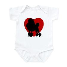 Poodle Valentine's Day Infant Bodysuit