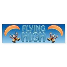 Flying High Paramotor Bumper Car Sticker