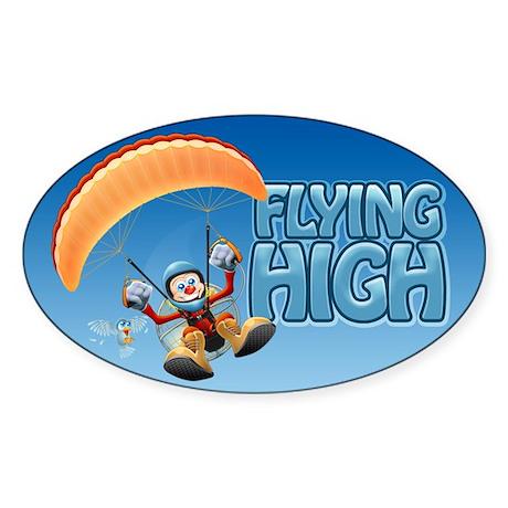 Flying High Paramotor Oval Sticker
