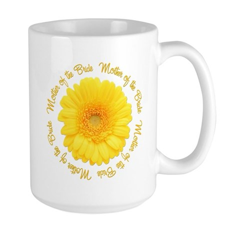 Yellow Daisy Mother of the Bride Large Mug
