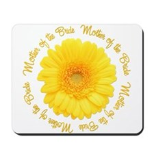 Yellow Daisy Mother of the Bride Mousepad