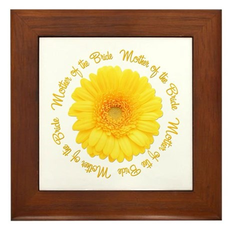 Yellow Daisy Mother of the Bride Framed Tile