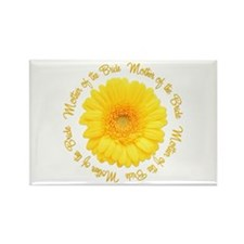 Yellow Daisy Mother of the Bride Rectangle Magnet