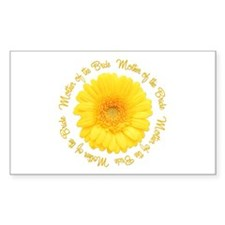 Yellow Daisy Mother of the Bride Decal