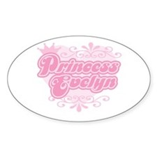 """Princess Evelyn"" Oval Decal"