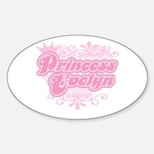 """""""Princess Evelyn"""" Oval Decal"""
