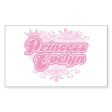 """Princess Evelyn"" Rectangle Decal"