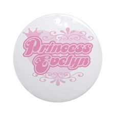 """Princess Evelyn"" Ornament (Round)"