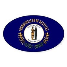 Kentucky State Flag Oval Decal
