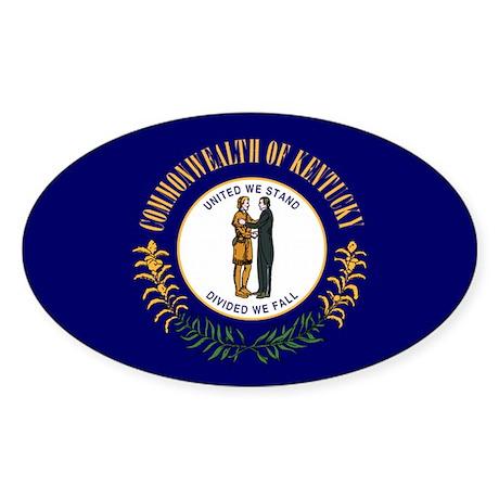 Kentucky State Flag Oval Sticker
