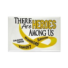 Heroes Among Us CHILDHOOD CANCER Rectangle Magnet