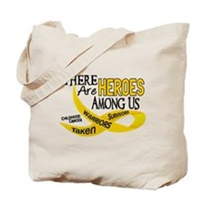 Heroes Among Us CHILDHOOD CANCER Tote Bag