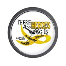 Heroes Among Us CHILDHOOD CANCER Wall Clock