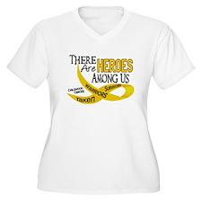 Heroes Among Us CHILDHOOD CANCER T-Shirt