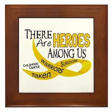 Heroes Among Us CHILDHOOD CANCER Framed Tile