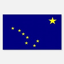 Alaska State Flag Rectangle Decal