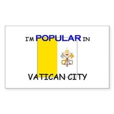 I'm Popular In VATICAN CITY Rectangle Decal