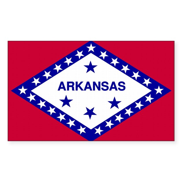 Arkansas state flag rectangle decal by stickertown for Arkansas state flag coloring page