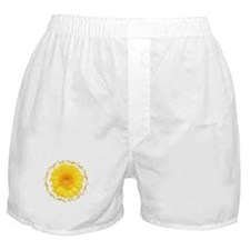 Yellow Daisy Couple's Daughter Boxer Shorts