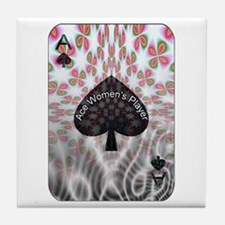 Ace Women's Player Tile Coaster