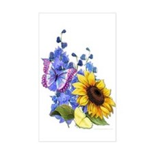 Sunflower Mix Rectangle Decal