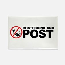 don't drink and post Rectangle Magnet