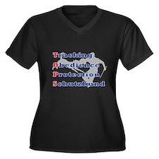 Schutzhund is TOPS Women's Plus Size V-Neck Dark T