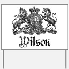 Wilson Vintage Crest Family Name Yard Sign