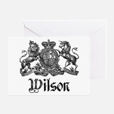 Wilson Vintage Crest Family Name Greeting Card