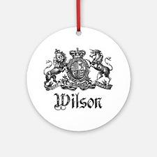 Wilson Vintage Crest Family Name Ornament (Round)