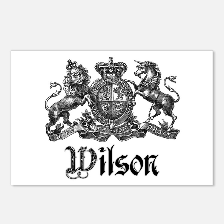 Wilson Vintage Crest Family Name Postcards (Packag