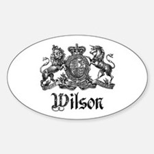 Wilson Vintage Crest Family Name Oval Decal