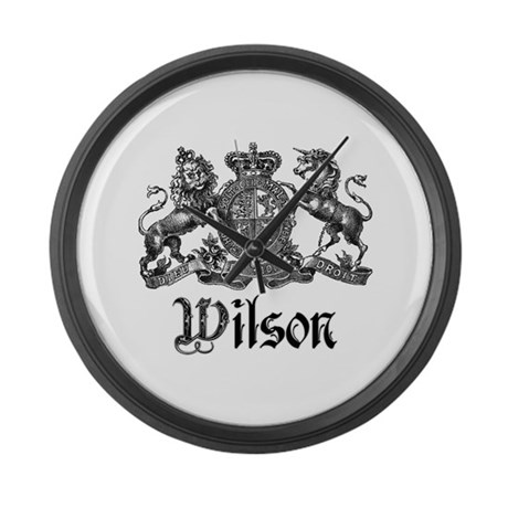 Wilson Vintage Crest Family Name Large Wall Clock