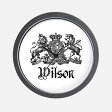 Wilson Vintage Crest Family Name Wall Clock